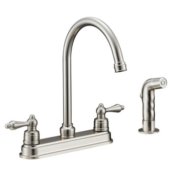 Designers Impressions 610071 Satin Nickel Kitchen Faucet w/ Sprayer
