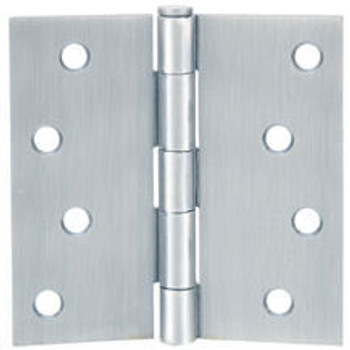 "Cosmas Satin Nickel Door Hinge 4"" with Square Corners: 37687"