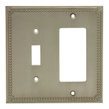 Cosmas 44072-SN Satin Nickel Single Toggle / GFCI Decora Combo
