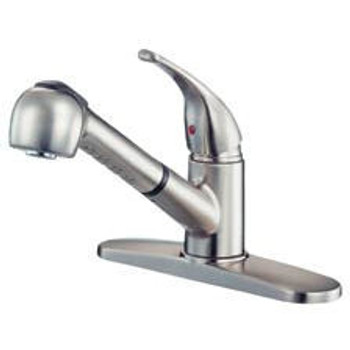 Crystal Cove 42-5678 Satin Nickel Kitchen Faucet w/ Sprayer