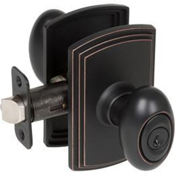 Delaney Canova Design Oil Rubbed Bronze Entry Door Knob (Front & Back): 100T-CN-US10