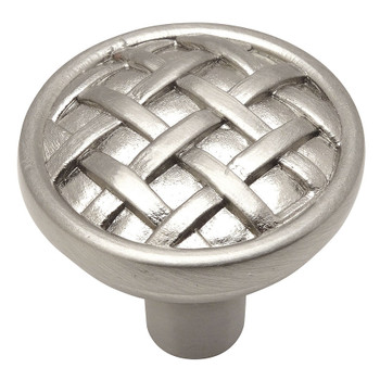 Cosmas 7065SN Satin Nickel Braided Cabinet Knob