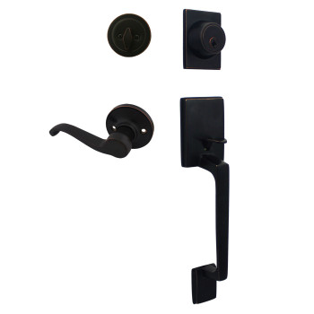 Cosmas 600 Series Oil Rubbed Bronze Handleset with 50 Series Interior: HS600/59-ORB