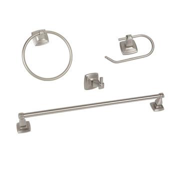 Regal Series 4 Piece Satin Nickel Bathroom Hardware Set