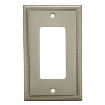 Cosmas 65000-SN Satin Nickel Single GFCI / Decora Wall Plate