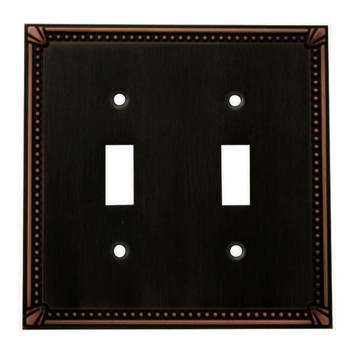 Cosmas 44031-ORB Oil Rubbed Bronze Double Toggle Switchplate Cover