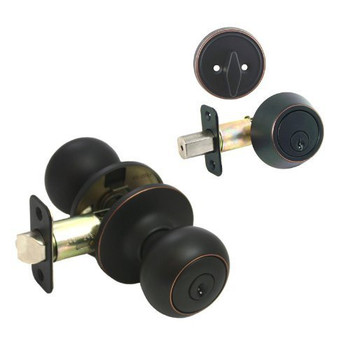 Designers Impressions Bedford Design Oil Rubbed Bronze Combo Pack - Entry & Deadbolt: 33-1699