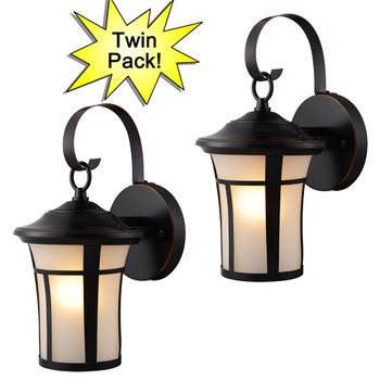 Oil Rubbed Bronze Outdoor Patio / Porch Exterior Light Fixtures - Twin Pack : 21-2687
