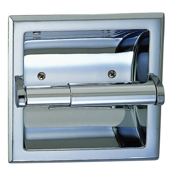 Designers Impressions Polished Chrome Recessed Toilet / Tissue Paper Holder Mounting Bracket Included: 48628