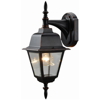 Oil Rubbed Bronze Outdoor Patio / Porch Exterior Light Fixture : 19-1890