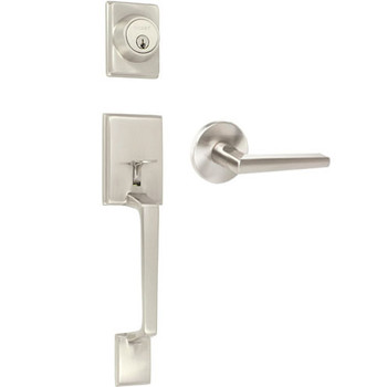 Delaney Contemporary Collection Capri Design Satin Nickel Handleset with Vida Interior