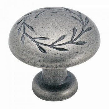 Amerock BP1581-2-WN Inspirations Oversized Weathered Nickel Leaf Cabinet Knob
