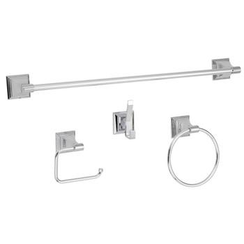 Designers Impressions 600 Series 4 Piece Polished Chrome Bathroom Hardware Set: BA600-4