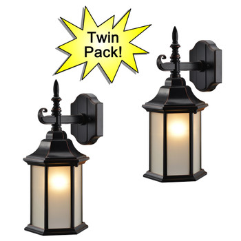 Oil Rubbed Bronze Outdoor Patio / Porch Exterior Light Fixtures - Twin Pack : 19-2132