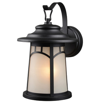 Black Outdoor Patio / Porch Exterior Light Fixture : 21-1284