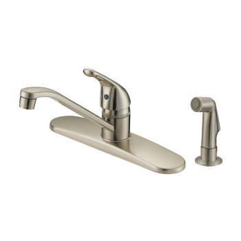 Designers Impressions 611618 Satin Nickel Kitchen Faucet with Sprayer