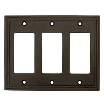Cosmas 25084-ORB Oil Rubbed Bronze Triple GFCI / Decora Wall Plate