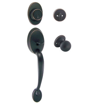 Designers Impressions Frankfort Oil Rubbed Bronze Handleset with Ashland Interior: 33-8000/2144