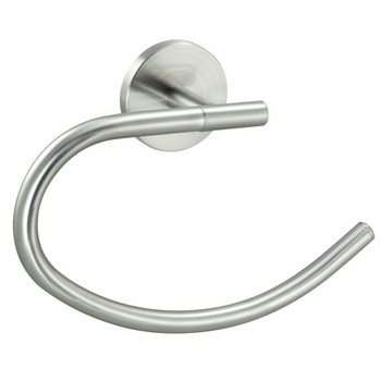 Designers Impressions Kain Series Satin Nickel Towel Ring: 49649