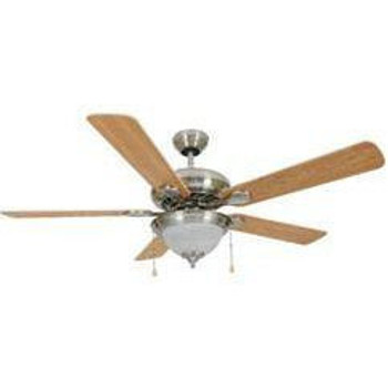 "Satin Nickel 52"" Ceiling Fan w/ Light Kit : 3520"