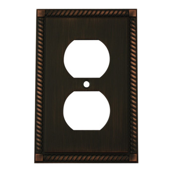 Cosmas 88033-ORB Oil Rubbed Bronze Single Duplex Wall Plate