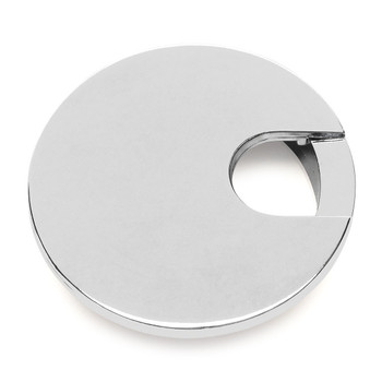 "Cosmas 50203CH Polished Chrome Desk Grommet - 3"" Overall Diamter"