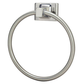 Designers Impressions Sunset Series Satin Nickel Towel Ring: 18901
