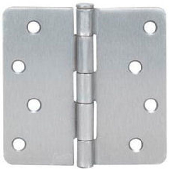 "Cosmas Satin Nickel Door Hinge 4"" with 1/4"" Radius Corners: 37663"