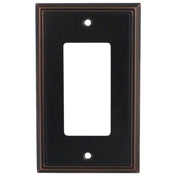 Cosmas 65000-ORB Oil Rubbed Bronze Single GFCI / Decora Wall Plate