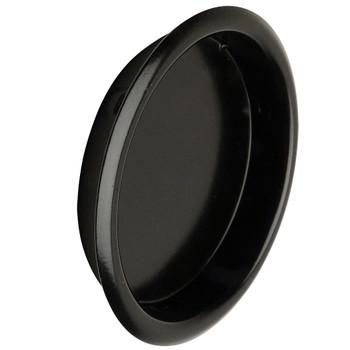 "Designers Impressions Matte Black 2-1/8"" Pocket Door Cup Pull: 47668"