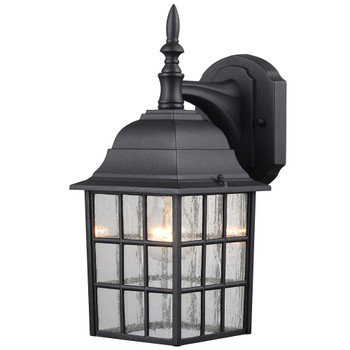 Black Outdoor Patio / Porch Exterior Light Fixture : 22-9364