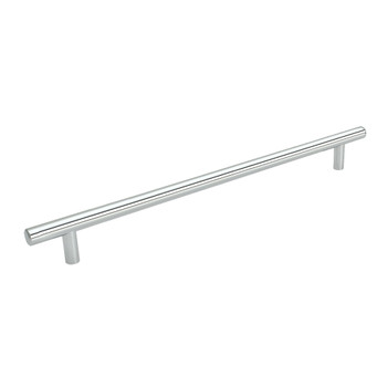 Cosmas 305-480CH Polished Chrome Cabinet Hardware Euro Style Bar Pull