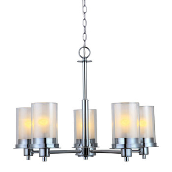 Avalon Chrome 5 Light Chandelier: 21-9044