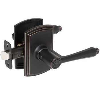 Delaney Florini Design Oil Rubbed Bronze Entry Door Lever (Front & Back): 500T-FL-US10