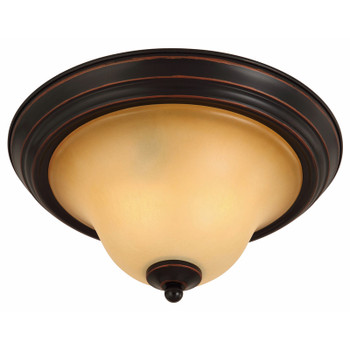 Oil Rubbed Bronze Flush Mount Ceiling Light Fixture : 16-7482