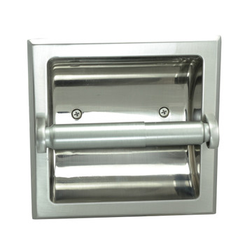 Designers Impressions Satin Nickel Recessed Toilet / Tissue Paper Holder Mounting Bracket Included 1: 49670 1
