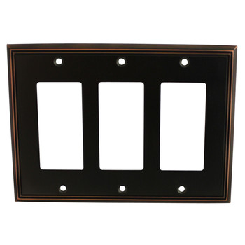 Cosmas 65070-ORB Oil Rubbed Bronze Triple GFCI / Decora Wall Plate