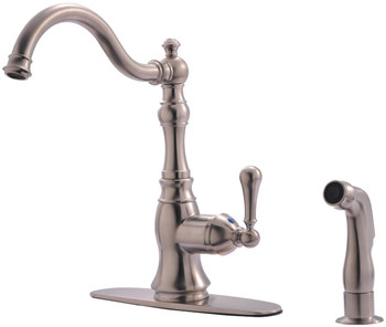 Hardware House 13-5139 Satin Nickel Kitchen Faucet w/ Sprayer