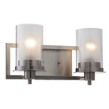 Juno Satin Nickel 2 Light Wall Sconce / Bathroom Fixture: 73469