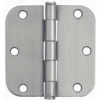 "Cosmas Satin Nickel Door Hinge 3 1/2"" with 5/8"" Radius Corners: 37557"