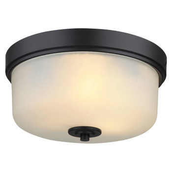 Lexington Oil Rubbed Bronze Flush Mount Ceiling Light Fixture: 20-8567