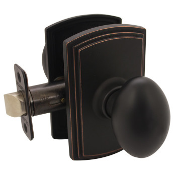Delaney Canova Design Oil Rubbed Bronze Passage Door Knob (Hall & Closet): 101T-CN-US10