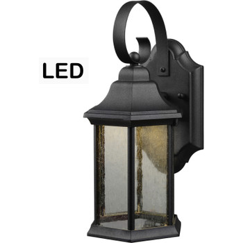 Black Outdoor Patio / Porch Exterior LED Light Fixture: 21-1932