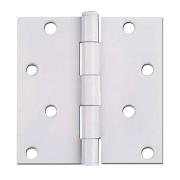 "White Door Hinge 4"" with Square Corners: 52-1096"