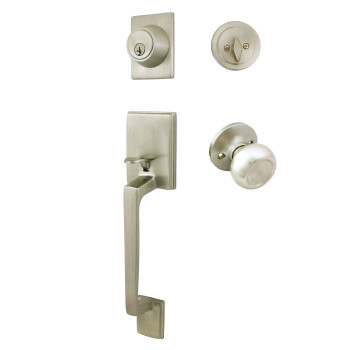 Cosmas 600 Series Satin Nickel Handleset with 20 Series Interior: HS600/20-SN