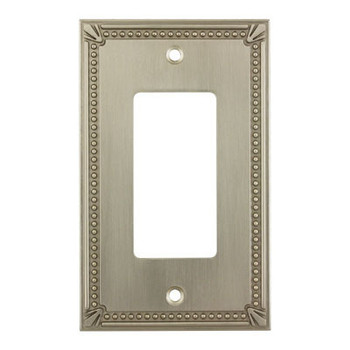 Cosmas 44000-SN Satin Nickel Single GFCI / Decora Wall Plate