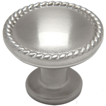 Cosmas 4115SN Satin Nickel Rope Cabinet Knob