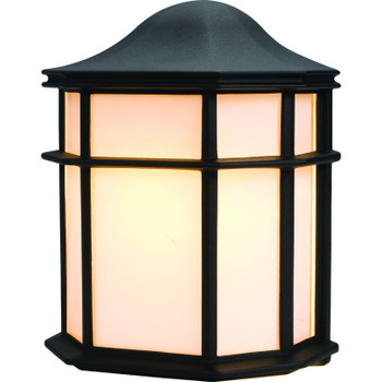 Black Outdoor Patio / Porch Exterior Light Fixture : 54-4270