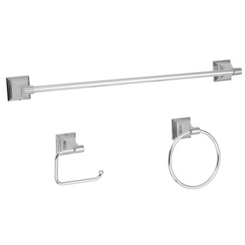Designers Impressions 600 Series 3 Piece Polished Chrome Bathroom Hardware Set: BA600-3