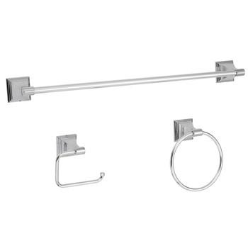 Designers Impressions 600 Series 3 Piece Polished Chrome Bathroom Hardware Set: BA600-3